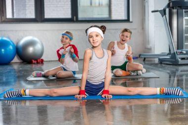 Active kids in sportswear