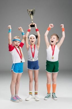 little kids with awards
