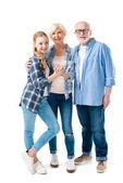 Großvater, Großmutter und Enkelin