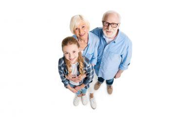 family looking at camera