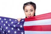 Amerikai zászló lány