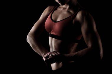 sportswoman posing in sportswear