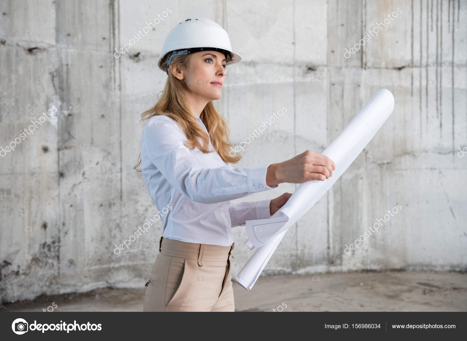 Professional architect at work stock photo for Professional architect