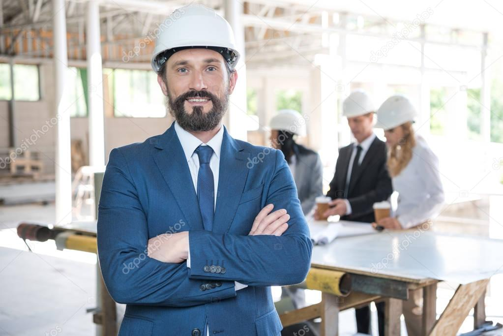 mature architect in formal wear
