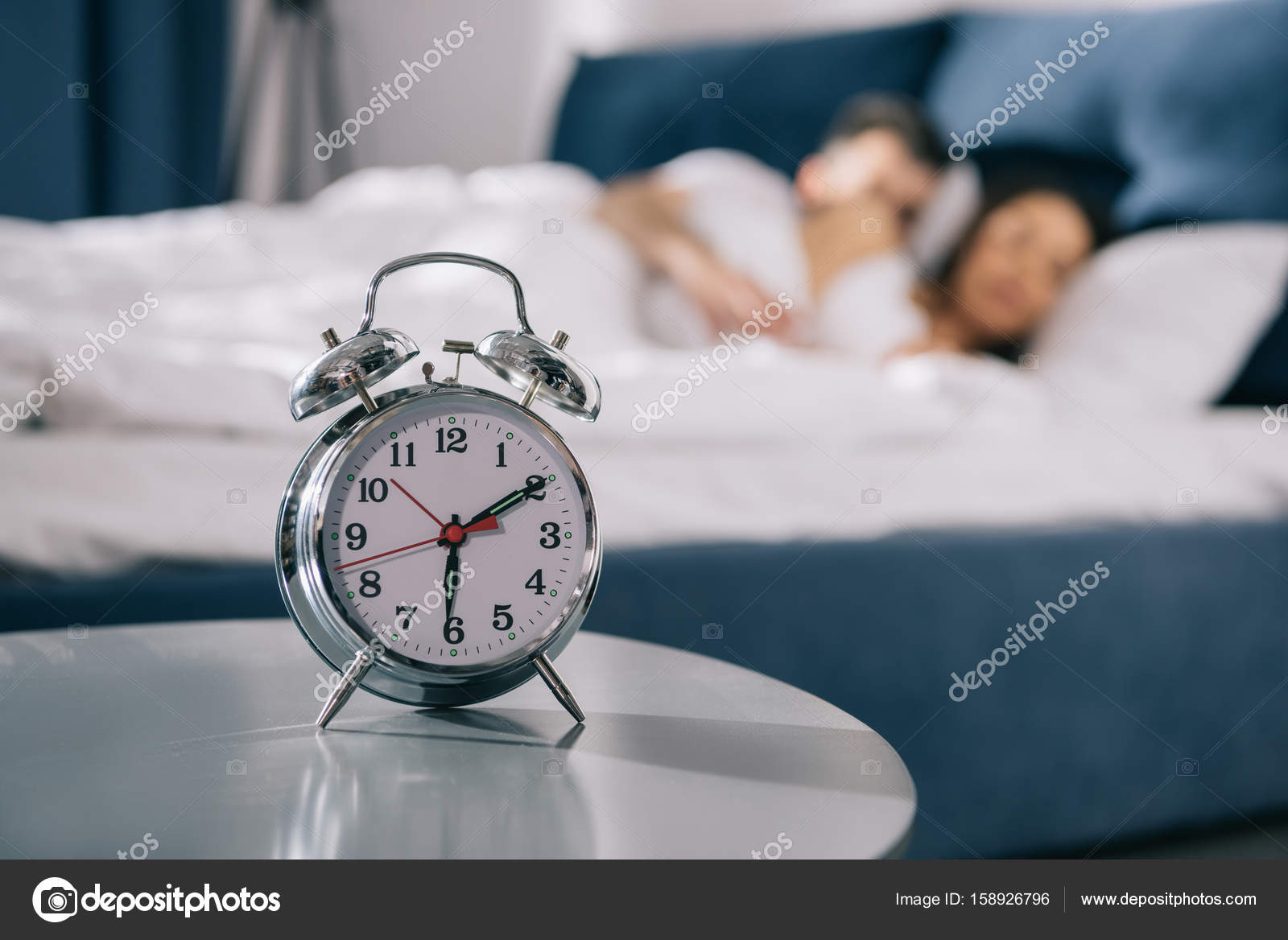Picture alarm clocks | Alarm clock in bedroom — Stock Photo ...