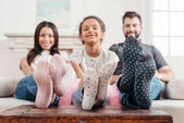 Fotografie Family feet in socks