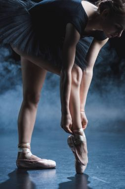 ballet dancer in black tutu