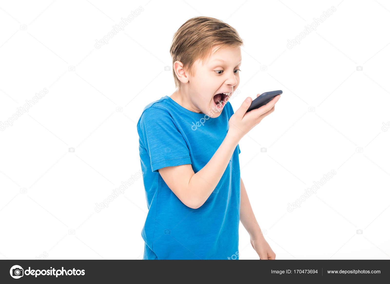 boy screaming at smartphone stock photo natashafedorova 170473694