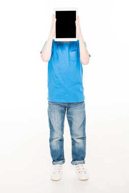 boy holding digital tablet