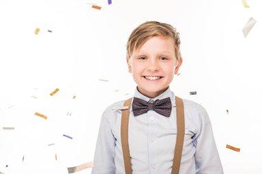happy boy with bow tie