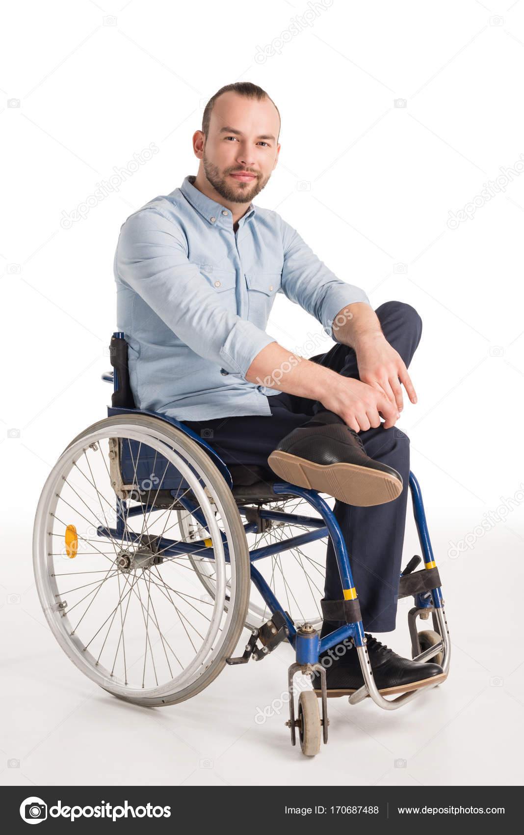 smiling man in wheelchair stock photo natashafedorova 170687488