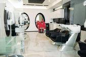 empty modern hair salon with equipment
