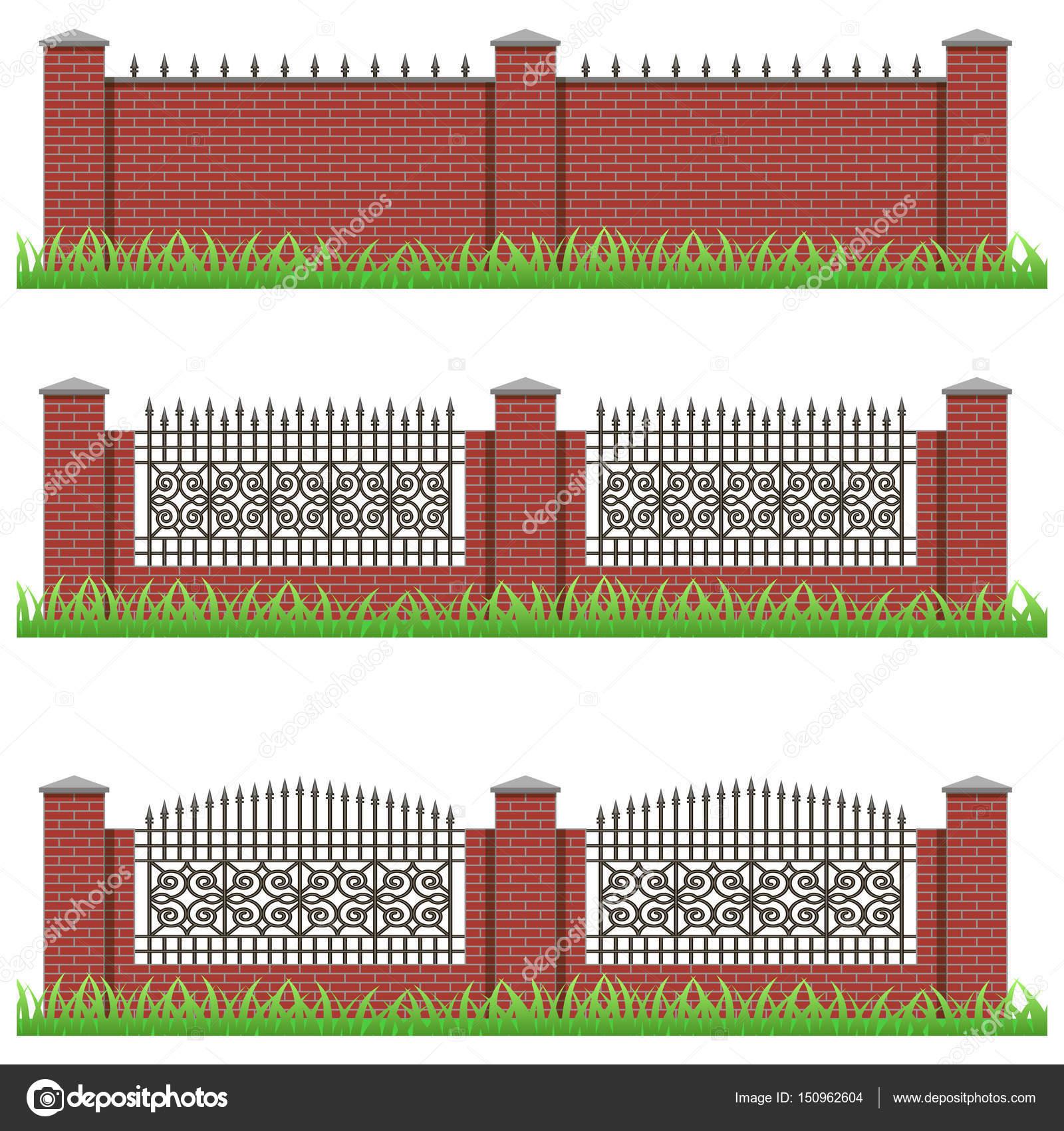 Mattoni Per Recinzione Giardino.Set Di Recinzioni Mattoni Manor O Giardino Decorato Con
