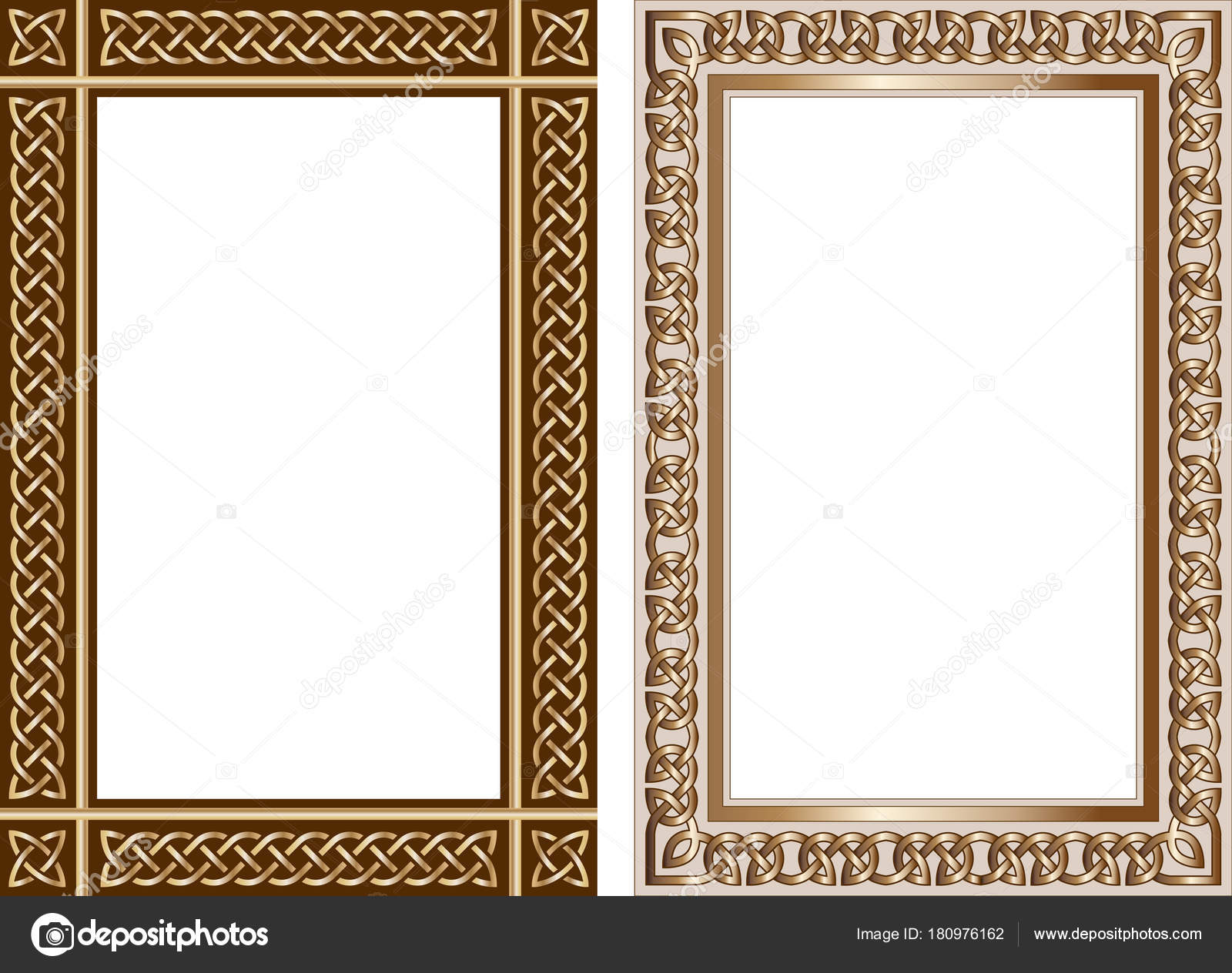 Set of decorative frames in traditional celtic style — Stock Vector ...