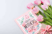 tulipán, képeslap és ajándék