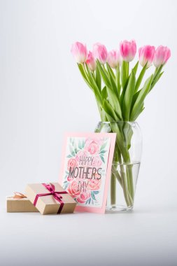 tulips, postcard and gifts