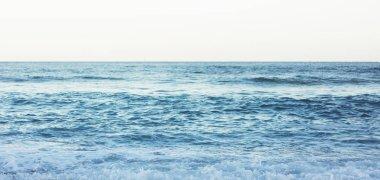 Waves of blue quiet ocean coast landscape