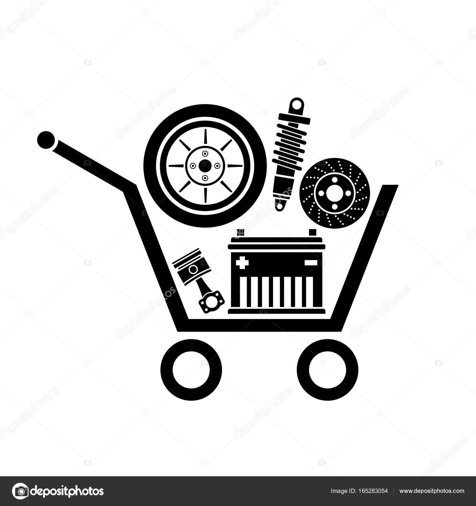 car parts store — Stock Vector © misima #165283054