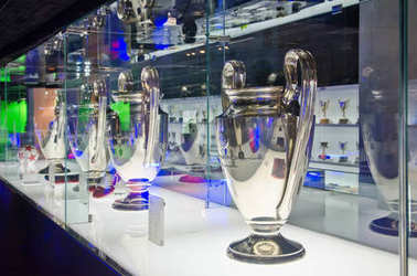 Champions League Cups in the Museum of FC Barcelona