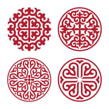 Traditional ornament of middle Asia