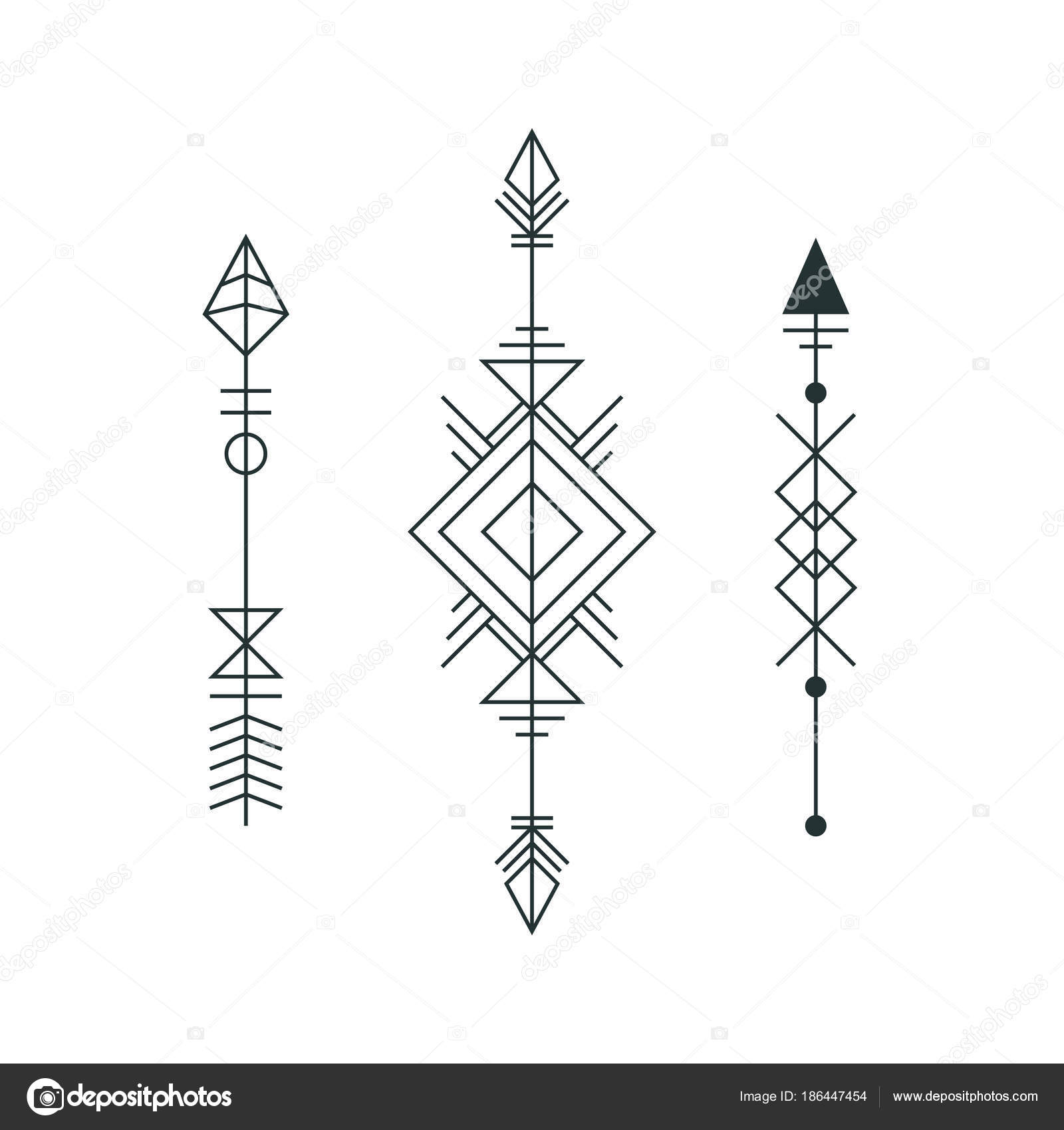 Dibujos Flechas Tatuaje Conjunto De Flechas Gráfico Para Diseño