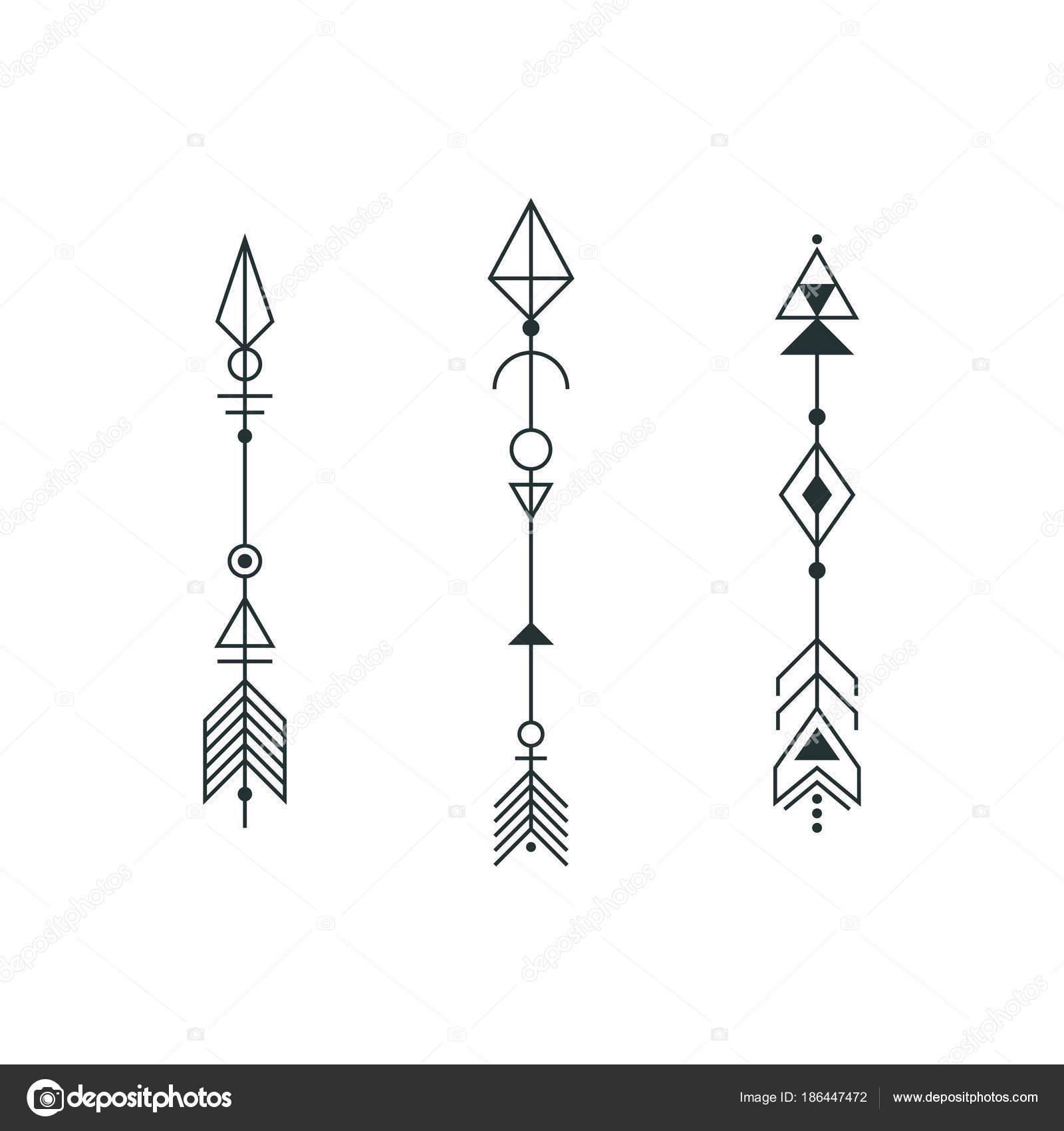 Vector Flechas Tatuaje Conjunto De Flechas Gráfico Para Diseño De