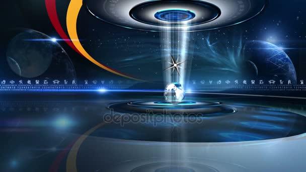 Zodiac Rad Turm mit Astrologie Zeichen virtuellen set