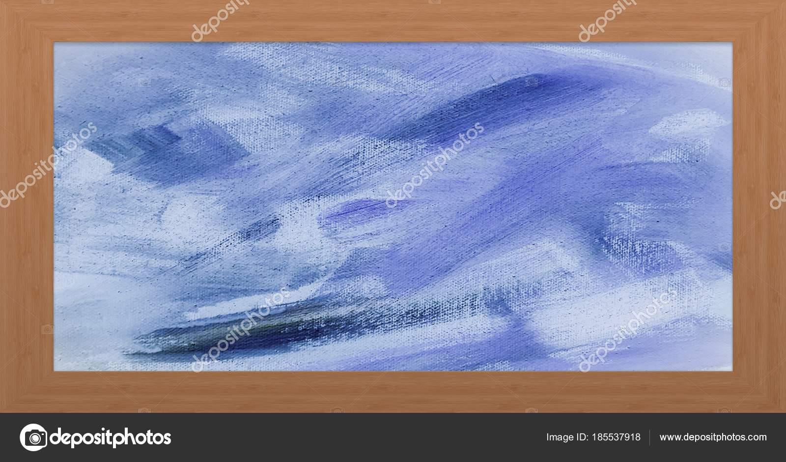Holzrahmen mit modernen gemalten Hintergrund. Bilderrahmen aus Holz ...