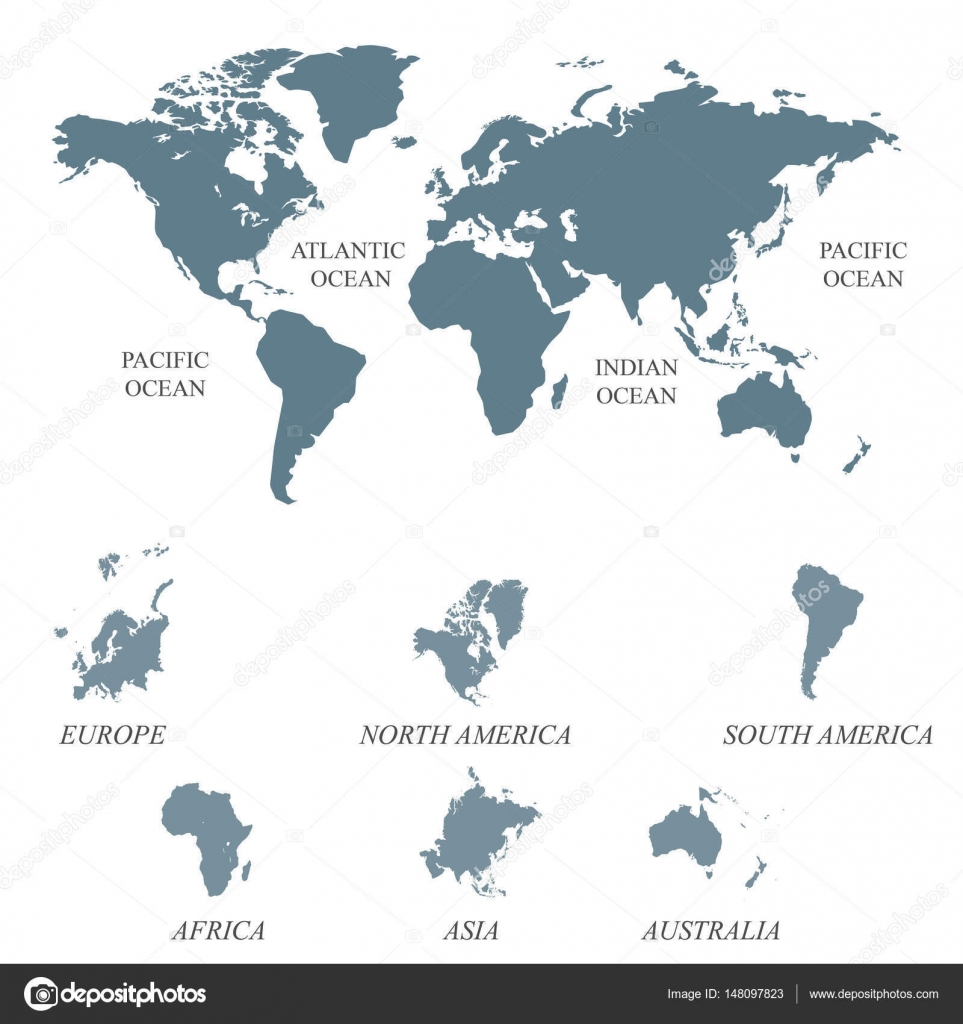 Blank grey world map isolated on white background stock vector blank grey world map isolated on white background worldmap vector template for website design cover annual reports infographics flat world map gumiabroncs Images