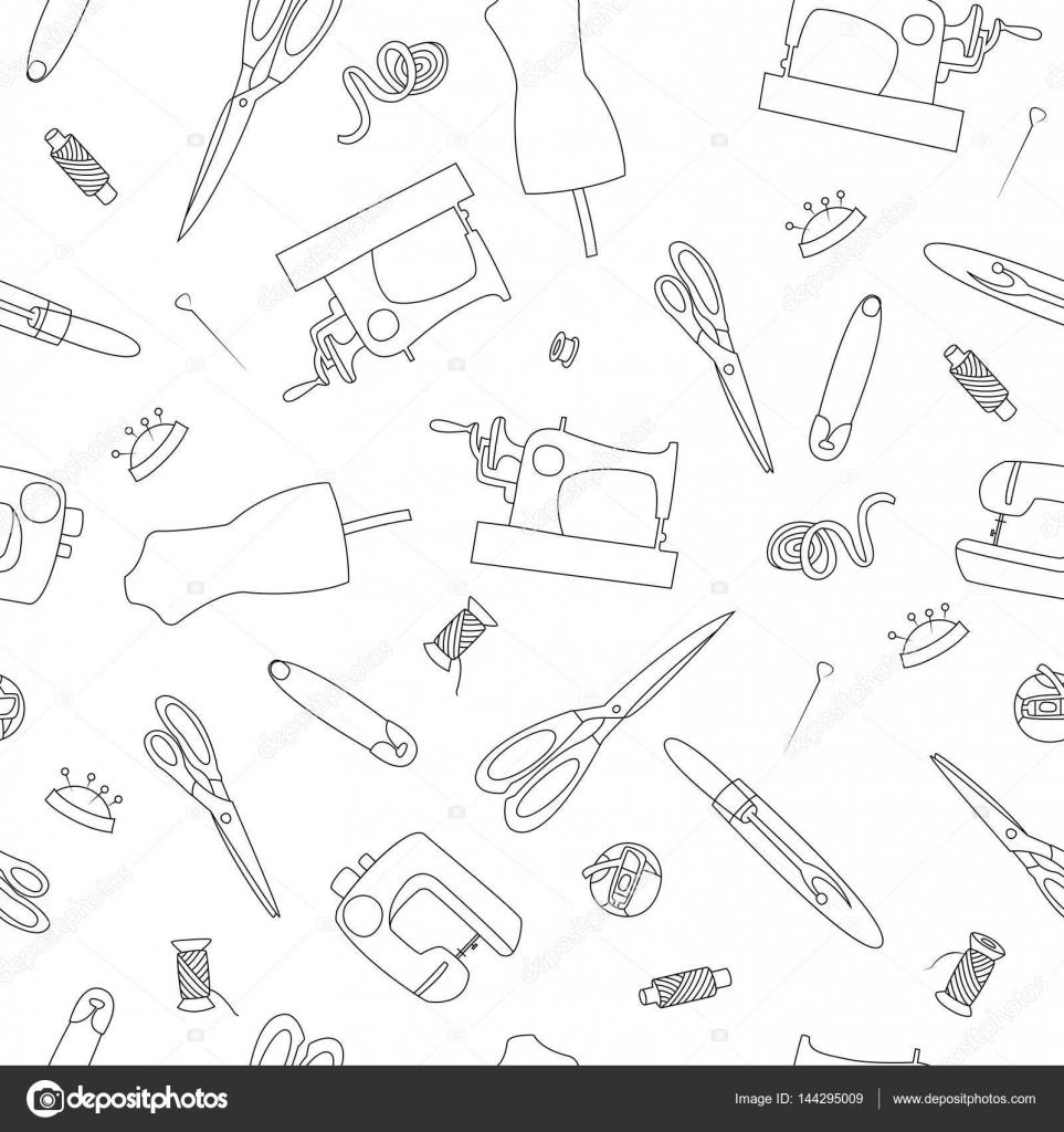Dibujado a mano de patrones sin fisuras doodle iconos conjunto de ...