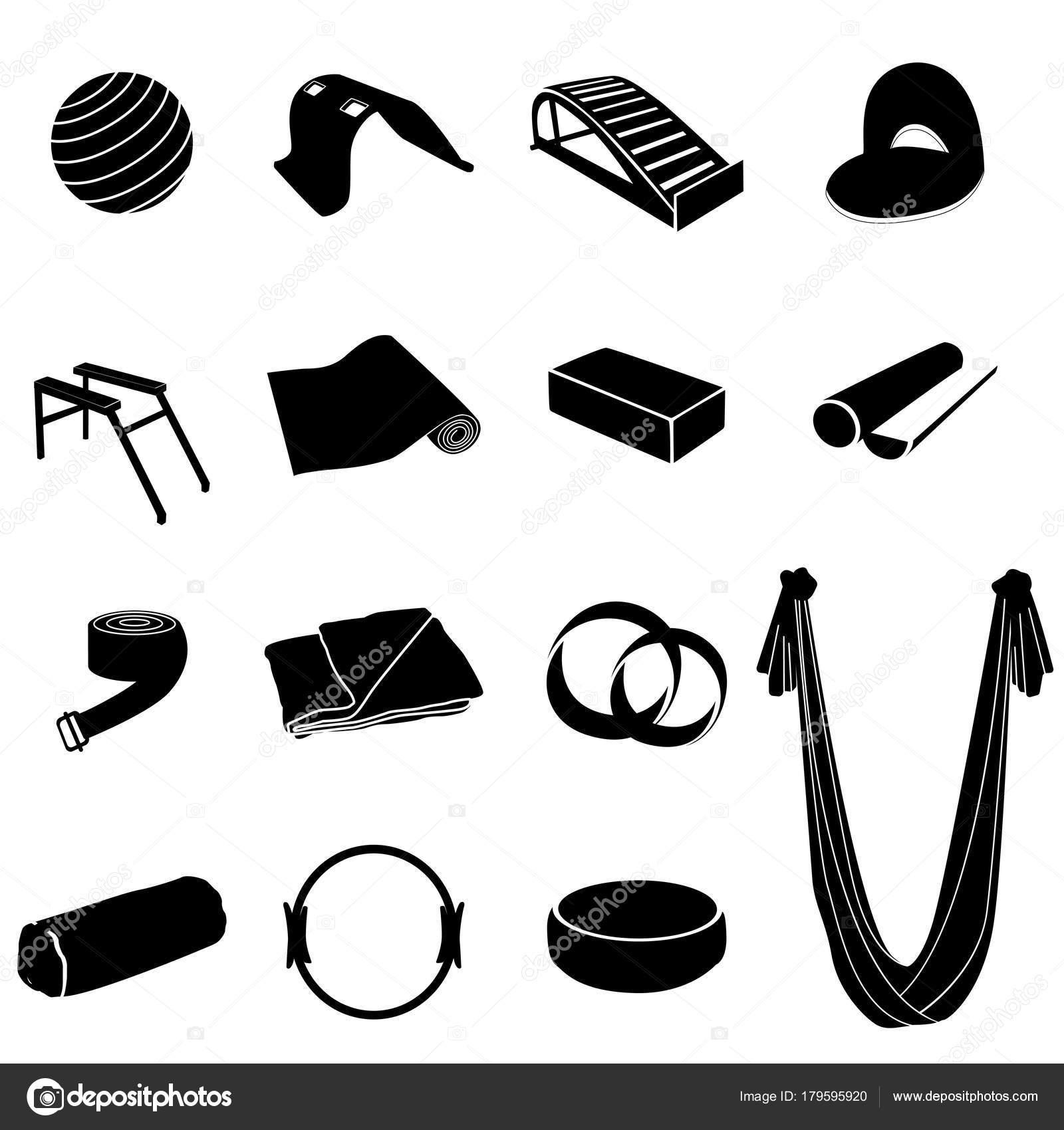 Yoga equipment set — Stock Vector © OlesyaVovk81  179595920 8d913b7c7