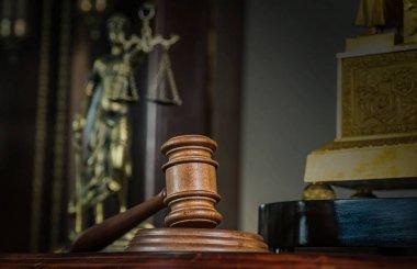 Symbol of Law on Lawyer's desk