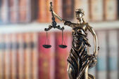 Law and justice symbols - legal law concept image.