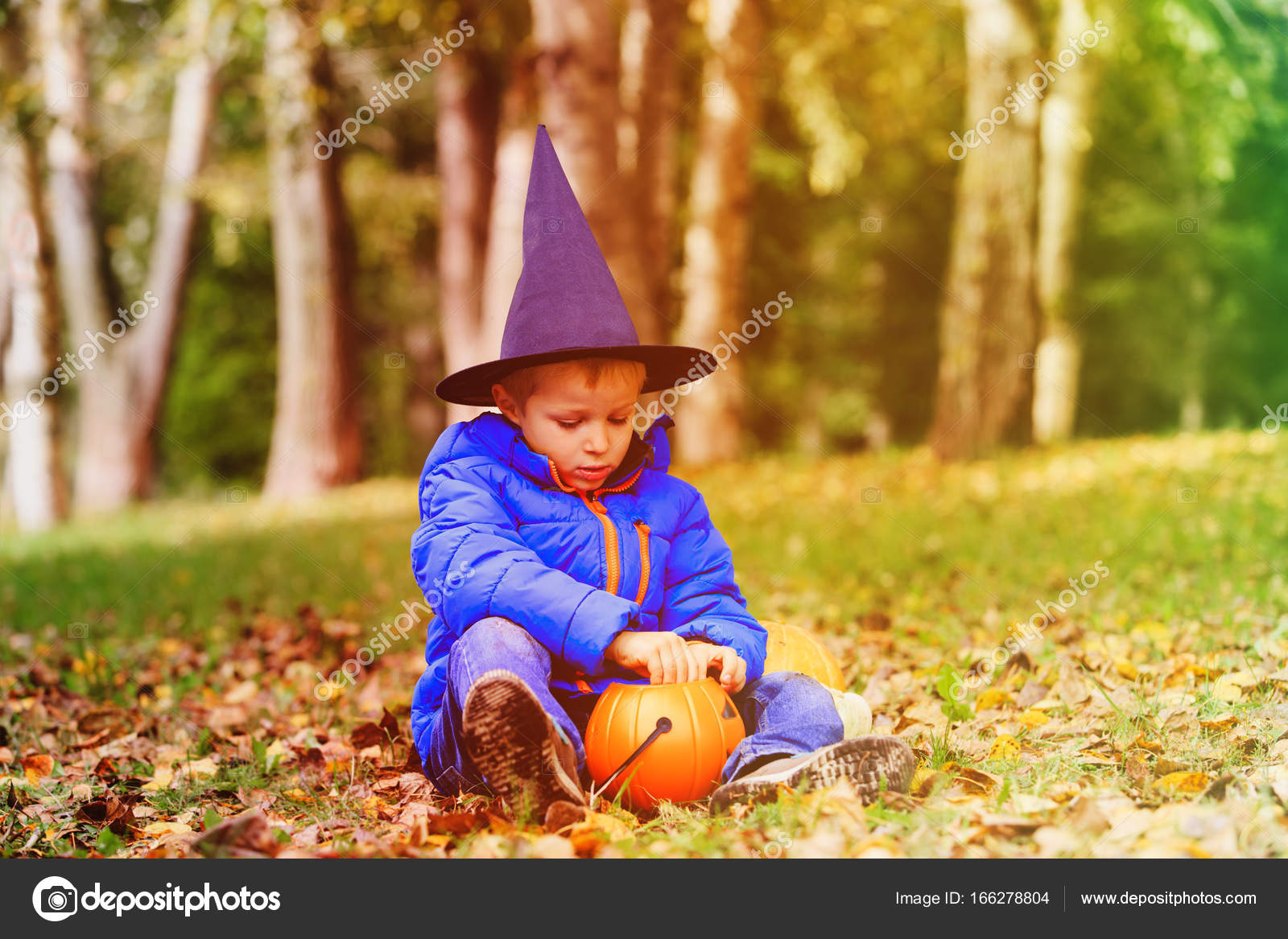 Marvelous Little Boy Get Ready For Halloween Party U2014 Stock Photo