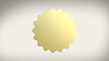 Az alfa-Matt arany pecsét matrica