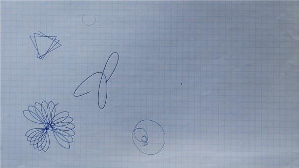 Golyóstoll Rozetta alakzatok a rajz papír