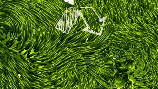 Recycle jel irkafirka-on zöld környezet