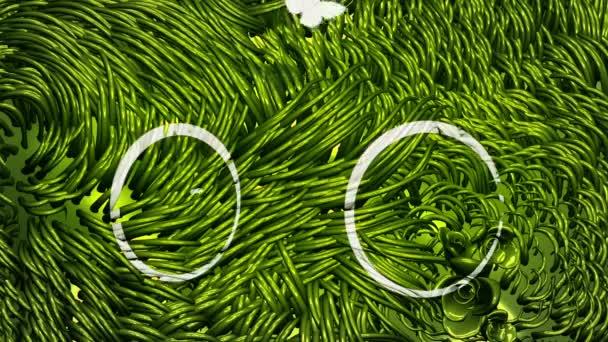 Kerékpár irkafirka-on zöld környezet