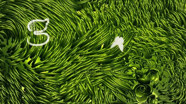 Általános megy zöld logó irkafirka-on zöld környezet