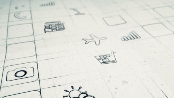 mobilní app vývoj koncepce hladké fotoaparát pánev