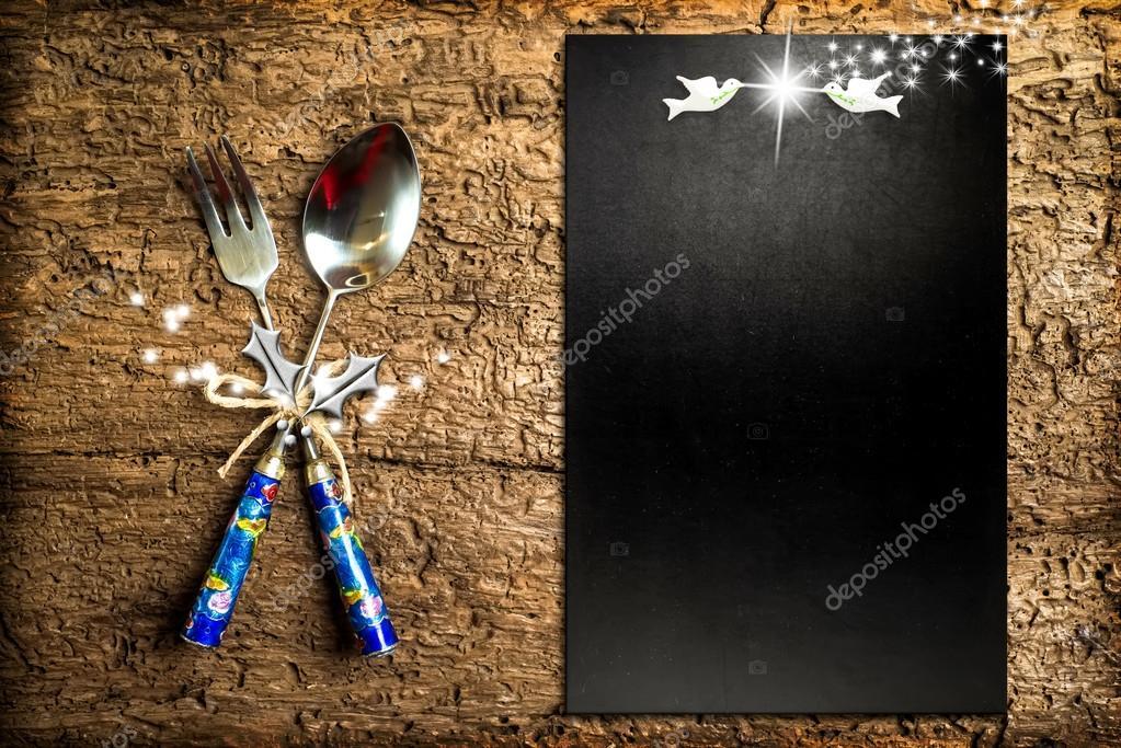Plantilla de menú Navidad — Fotos de Stock © Risia #125606136