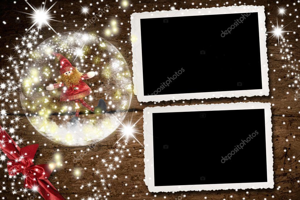 Weihnachtsbilderrahmen für zwei Fotos — Stockfoto © Risia #125751280