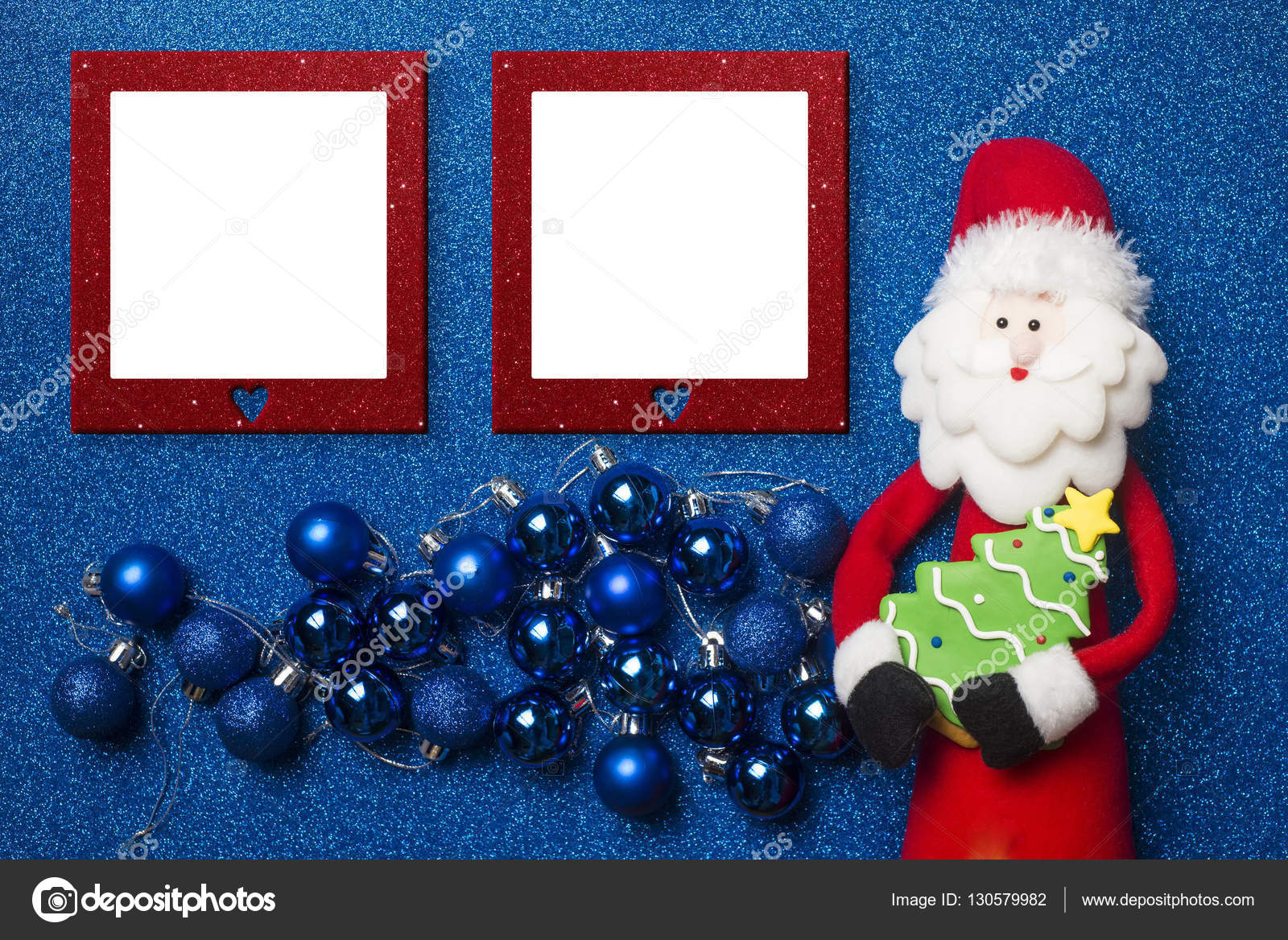 Tarjeta de Navidad de marcos de foto — Foto de stock © Risia #130579982