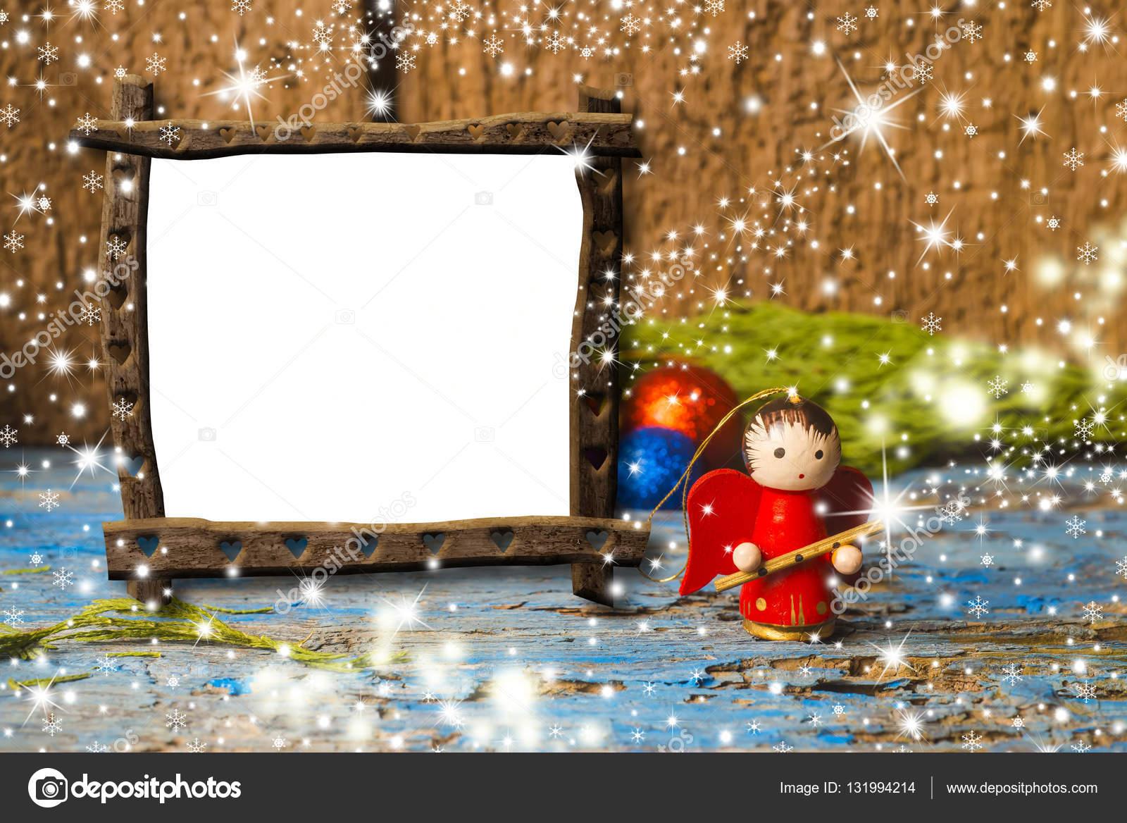 Weihnachten leeren Rahmen, Musiker Angel — Stockfoto © Risia #131994214