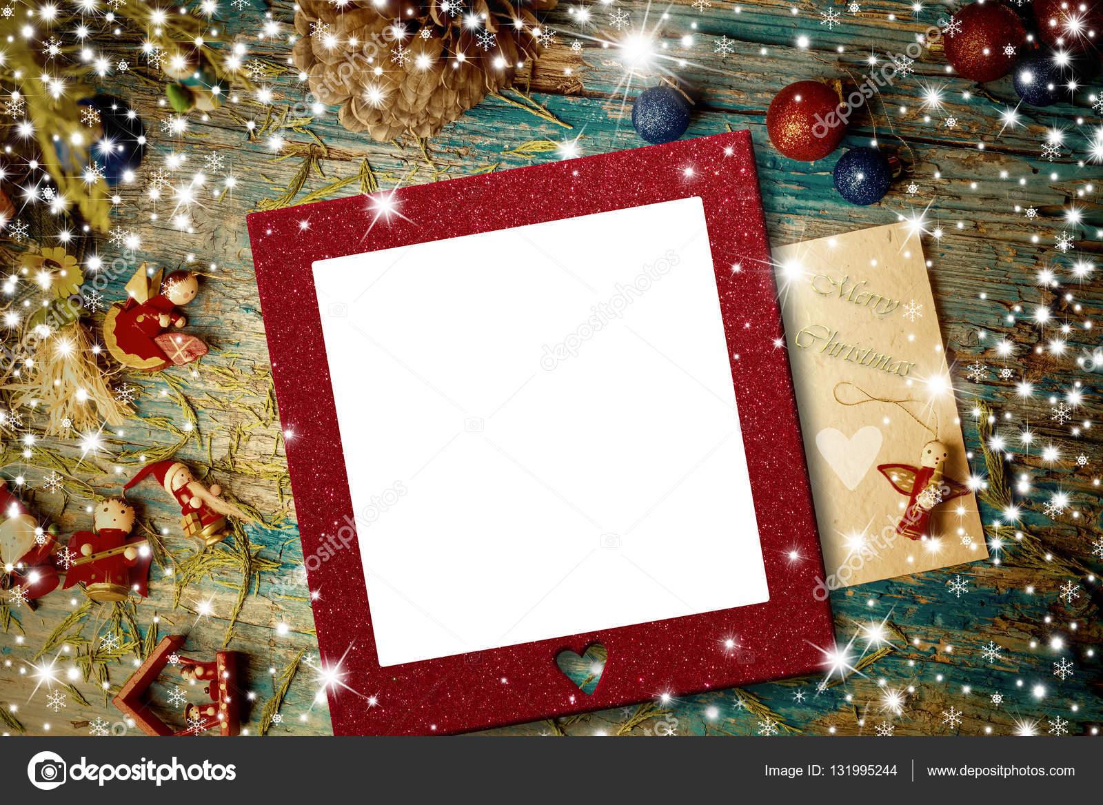 Christmas Photo Frame Cards. christmas concept frame for greeting ...