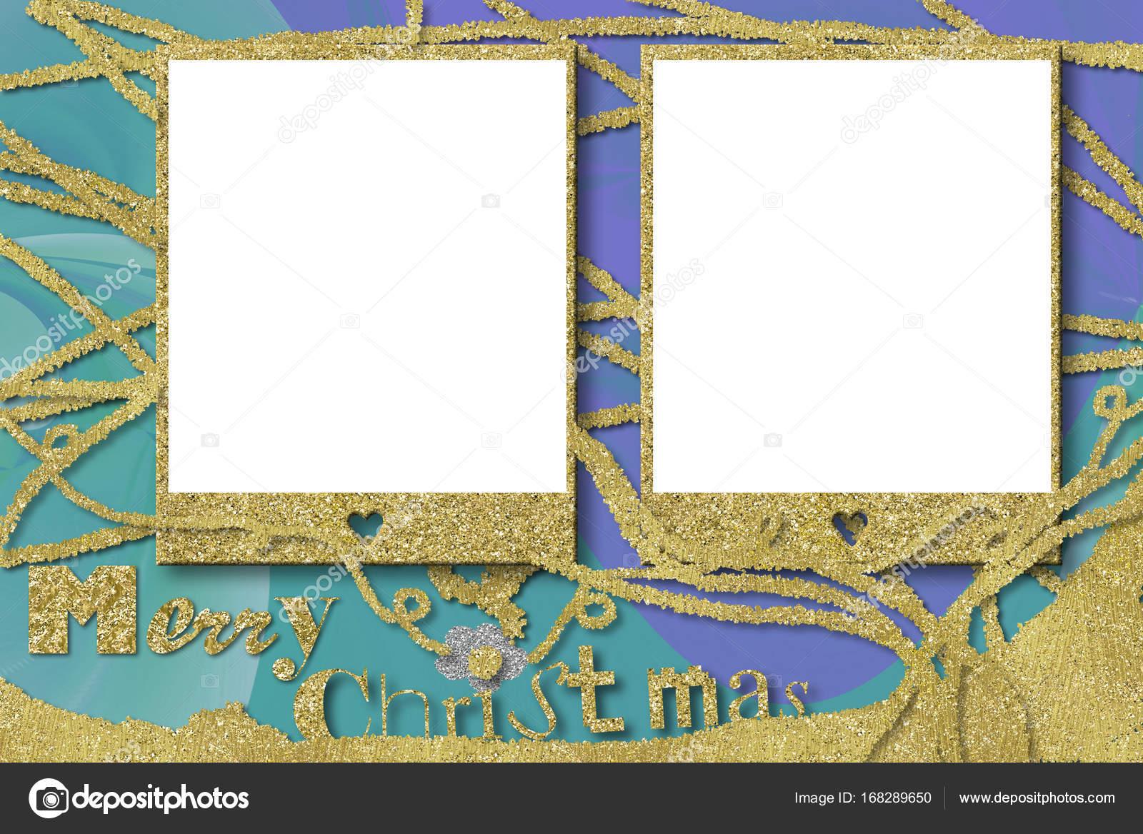 Christmas photo frame cards — Stock Photo © Risia #168289650