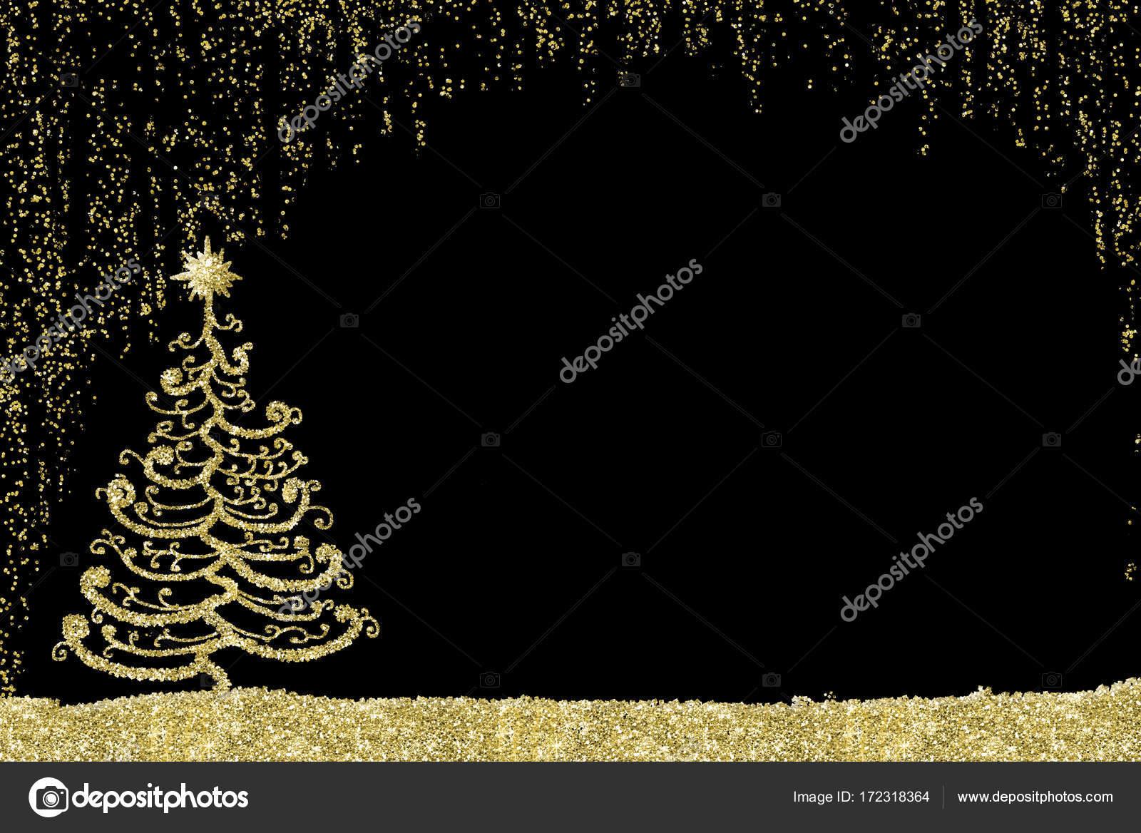 Weihnachtskarte-goldene Baum — Stockfoto © Risia #172318364
