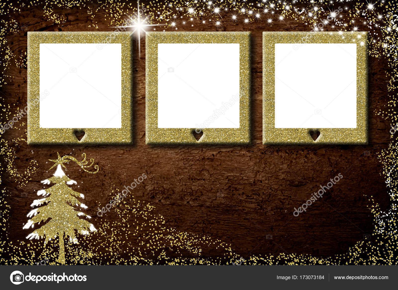 Weihnachten 3 leere Frames Fotokarte — Stockfoto © Risia #173073184