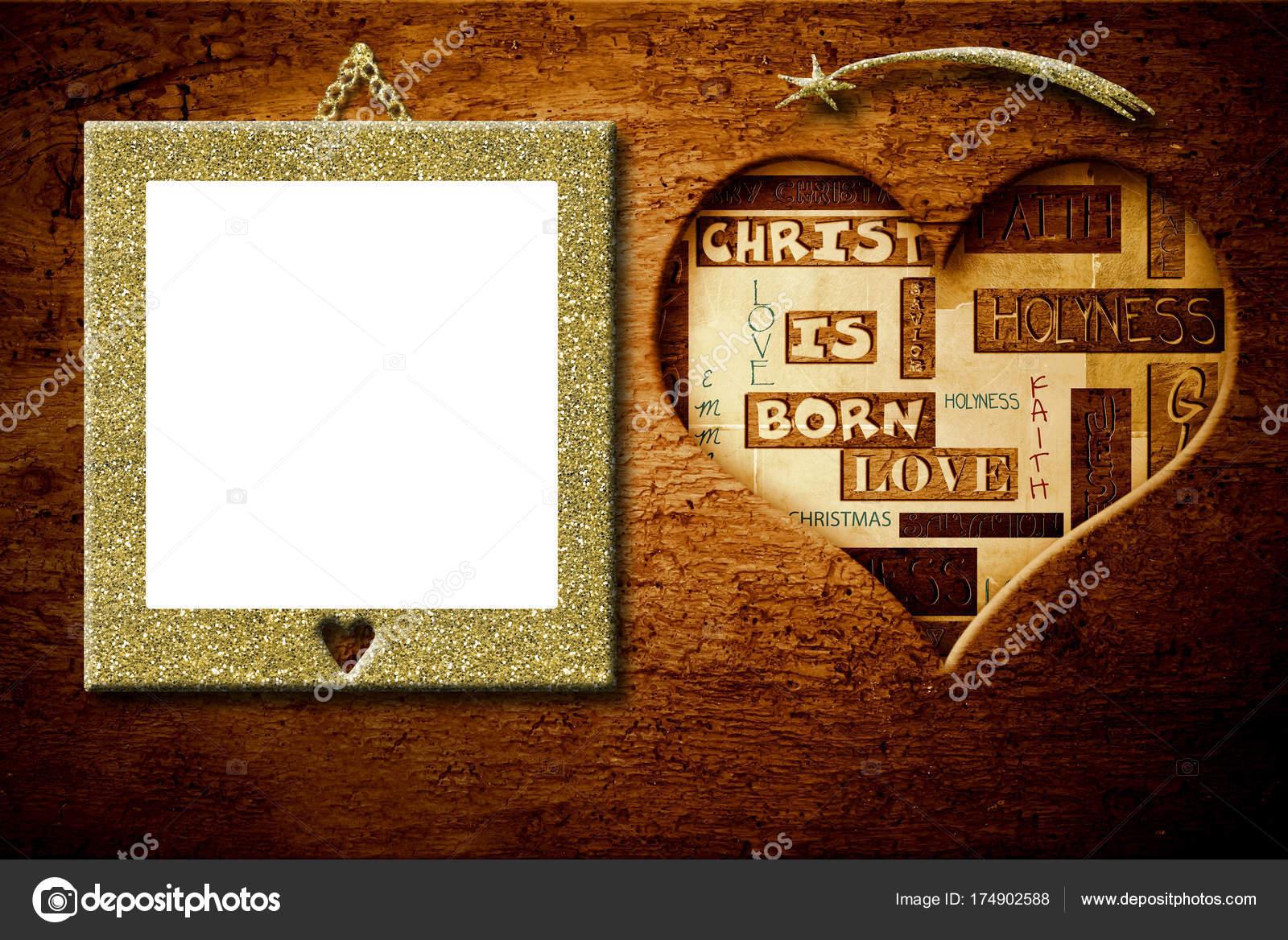 Weihnachten Glückwünsche Bilderrahmen — Stockfoto © Risia #174902588
