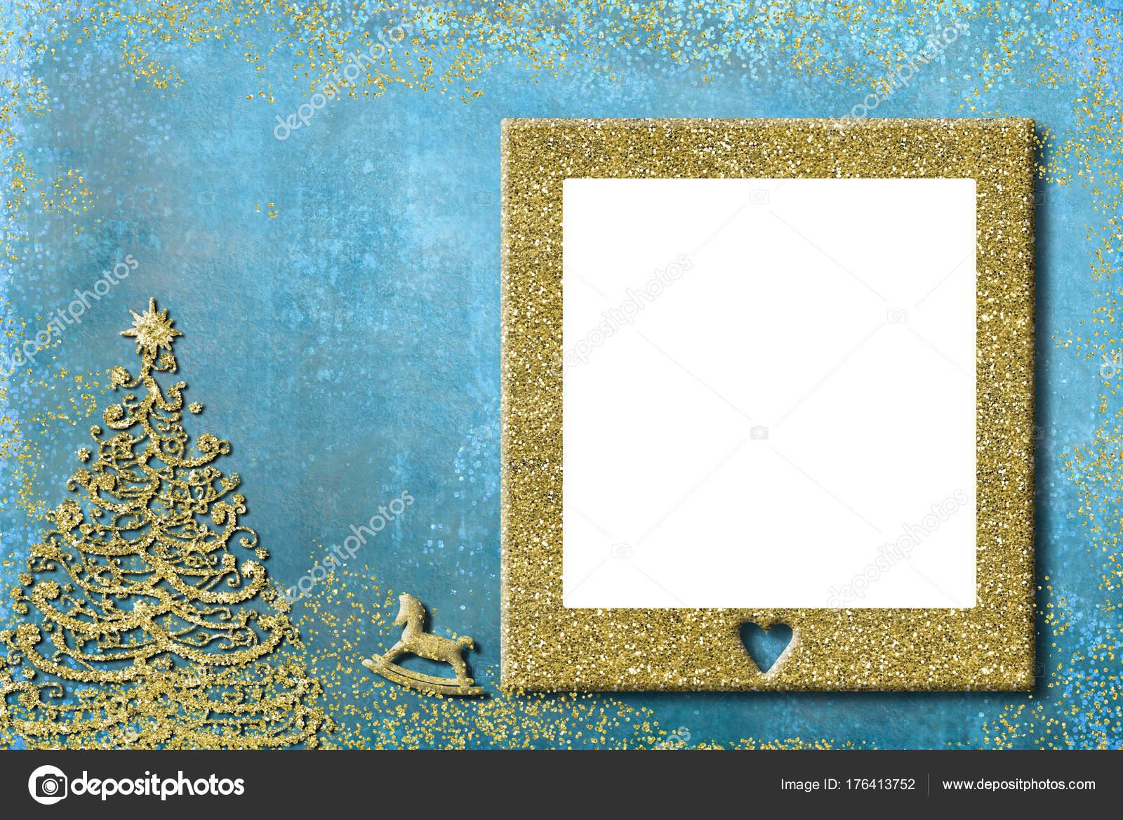 Navidad niños foto marco tarjetas de felicitación — Fotos de Stock ...
